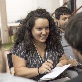 Nerea de Espacio Bilbao participando en la formación de formadores de Breakerslab
