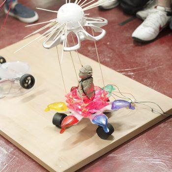 competición de robots bobos en makespace madrid