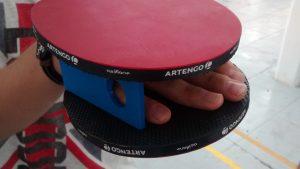pala de ping pong adaptada