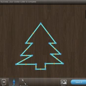 diseño de un árbol con cookie caster