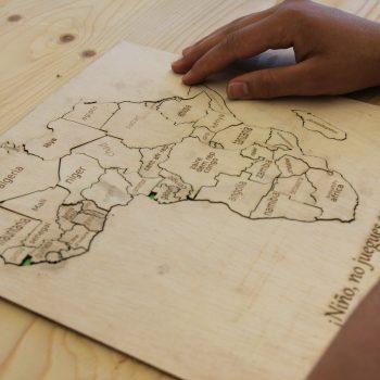 puzzle mapa africa terminado