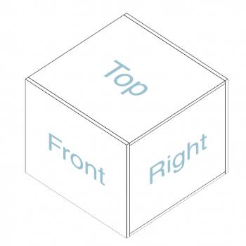 imagen de un cubo con sus diferentes caras