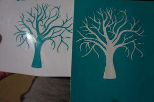 Diseños del árbol en vinilo