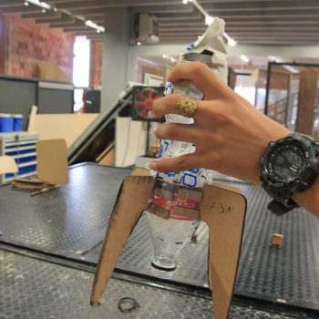 Cohete creado con corte láser
