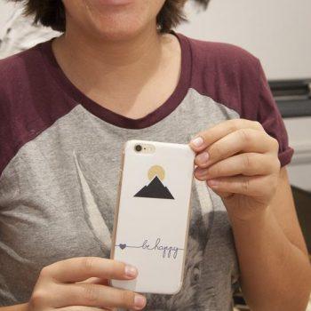 pegatina personalizada para el móvil
