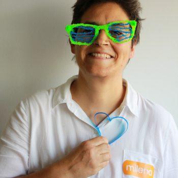 Milena, miembro de Tinkerers Fab Lab