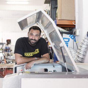 Gianluca durante los cursos de Breakerslab